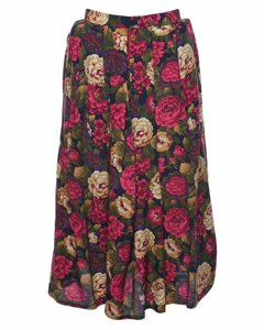 2000s Floral Pleated Skirt