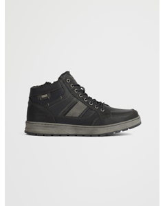 Lace Up Lined Black