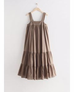 Relaxed Tiered Cotton Dress Mole