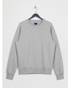 D2. Structure C-neck Sweat Light Grey Melange