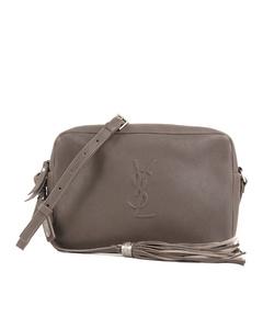 Ysl Lou Leather Crossbody Bag Gray