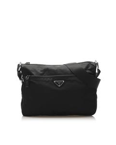 Prada Tessuto Crossbody Bag Black
