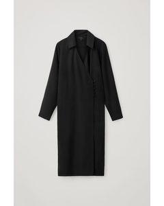 Tailored Wrap Dress Black