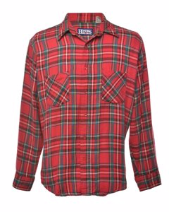 1990s Honors Checked Flannel Shirt