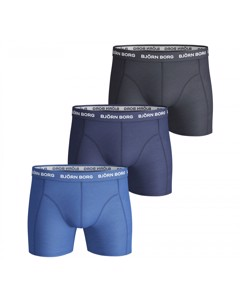 Björn Borg 3-pack Boxers Solids Blue Mix Blauw