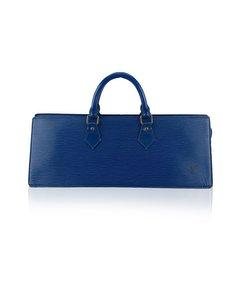 Louis Vuitton Vintage Blue Epi Leather Sac Tricot Triangle Bag