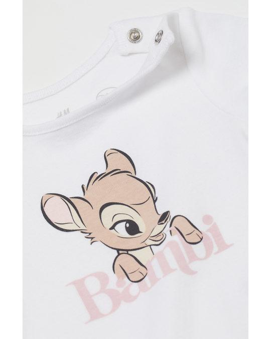 H&M 3-piece Printed Set Powder Pink/bambi