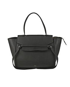 Celine Belt Leather Satchel Black