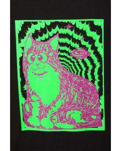 The Great Yin Yang Starburst T-shirt Balck/cosmic Cat Print