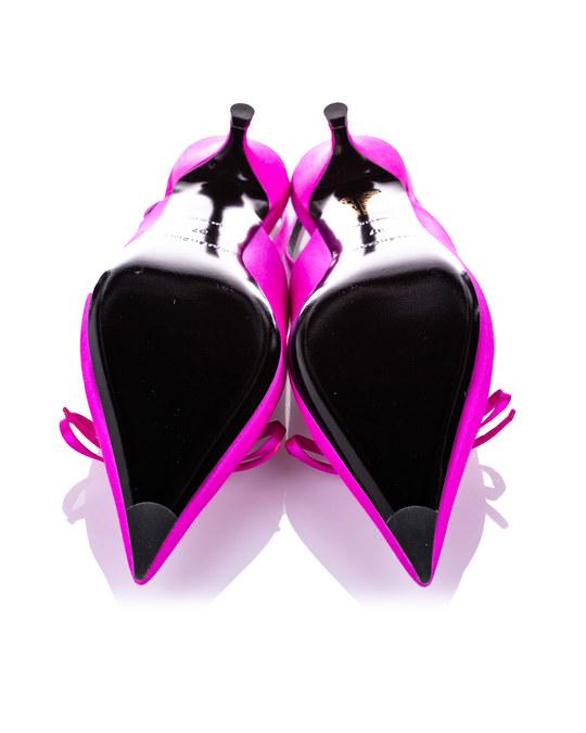 Balenciaga Balenciaga Knife Slingback Satin Mule Pink