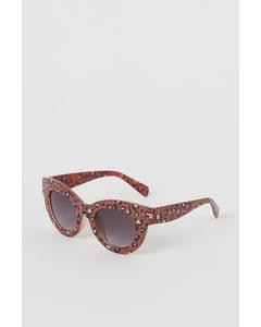 Kattformade Solglasögon Brun/leopardmönstrad