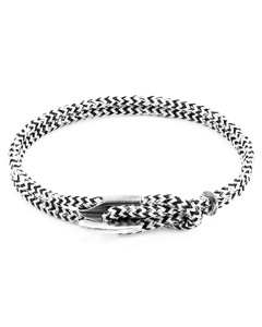 Weisse Noir Padstow Silber Und Seil Armband