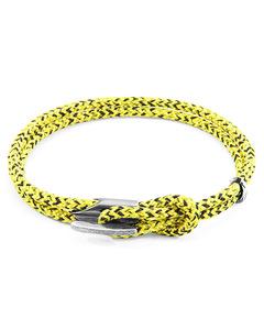 Gelbe Noir Padstow Silber Und Seil Armband
