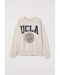 Sweatshirt Med Tryck Crèmevit/ucla