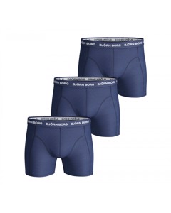 Björn Borg 3-pack Boxers Solids Navy Blauw
