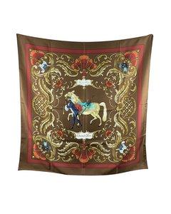Hermes Paris Vintage Silk Scarf Cheval Turc 1969 Christiane Vauzelles
