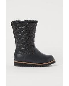 Fodrade Boots Svart