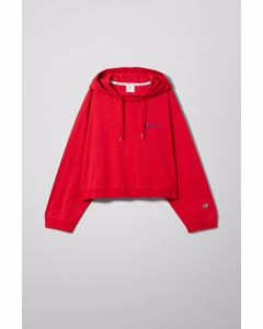 Dash Cropped Hoodie Red