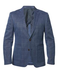 Window Check Blazer Napoli Blue