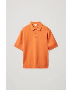 KURZÄRMLIGES POLOSHIRT Leuchtendes Orange