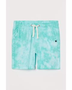 Dressade Shorts Turkos/batikmönstrad