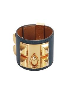 Hermes Collier De Chien Bracelet Blue