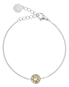 Diana Armband Lemon Sorbet Crystal Steel