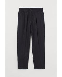 Cropped Joggpants Regular Fit Dunkelblau