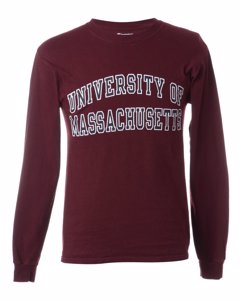 1990s Champion University Of Massachusetts Printed T-shirt