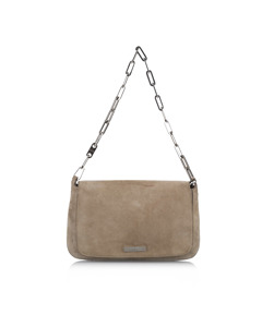 Gucci Suede Shoulder Bag Brown