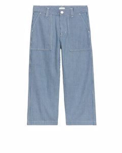 Hickory Workwear Trousers Blue/white