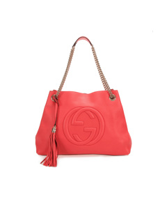Gucci Soho Chain Leather Shoulder Bag Pink