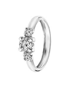 9 Karaat Witte Ring Met 3 Zirkonia Stenen