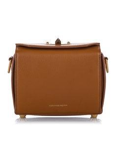 Alexander Mcqueen Box 19 Leather Crossbody Bag Brown
