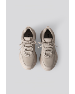 Sporty Mesh Trainers A Light Khaki