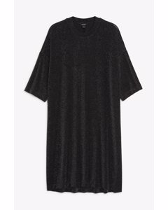 Kleid aus Glitzer-Lurex Schwarz mit Glitzer