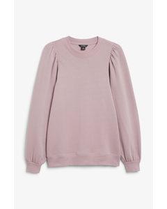 Oversized Puff Sleeve Sweater Purple