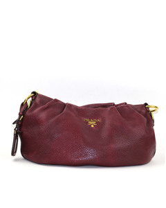 Prada Vitello Daino Shoulder Bag Red