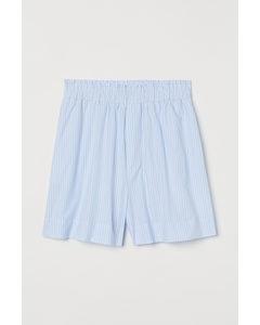 Katoenen Short Lichtblauw/gestreept