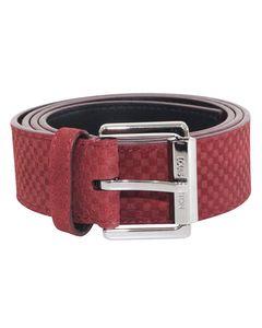 Red M9540 Suede Damier Belt
