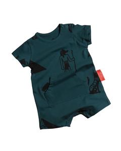 Kangaroo Pocket Shorts Jumpsuit