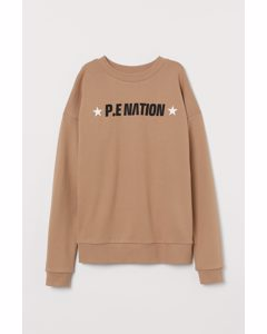 Sweatshirt aus Baumwolle Beige