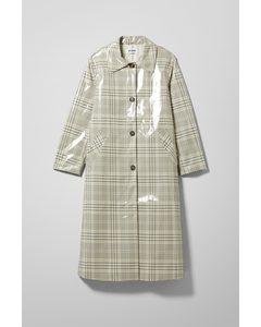Gewachster Carcoat Rina Beige/Kariert