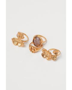 4er-Pack Ringe Goldfarben