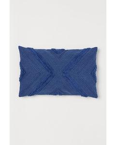 Kissenhülle aus Baumwolle Blau