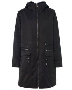 Long Reversible Puffer Coat With Hood