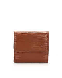 Louis Vuitton Epi Porte Monnaie Billets Tresor Wallet Brown