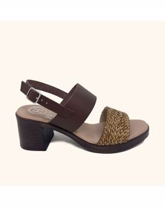 Alonnisos Leather Heeled Sandals