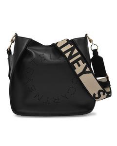 Handtasche Mini Crossbody aus schwarzem Kunstleder