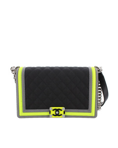 Chanel Medium Boy Nylon Flap Bag Black
